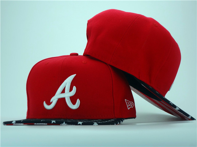 Atlanta Braves Red Snapback Hat ZY 0701